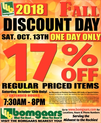 Fall Discount Day