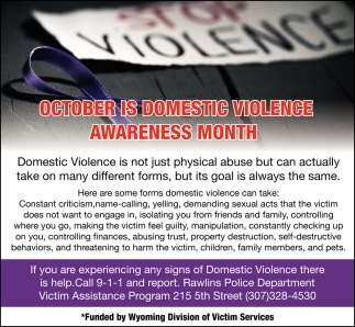Octoberis Domestic Violence Awareness Month