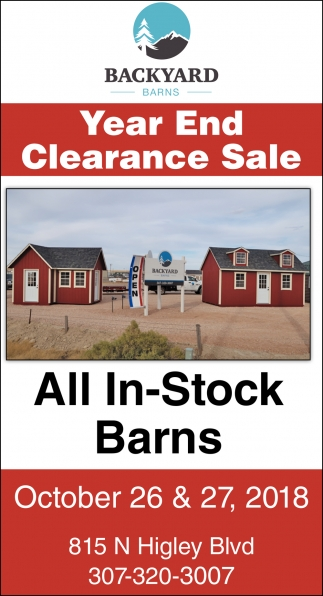 Year End Clearance Sale
