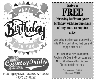 Enjoy a Free Birthday Buffet On Your Birthday