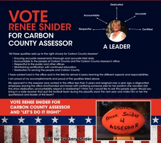 Renee Snider for Carbon County