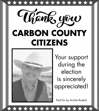 Thank You Citizens of Carbon County