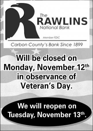 We Will Reopen on Tuesday