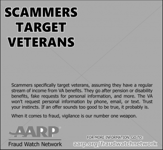 Scammers Target Veterans