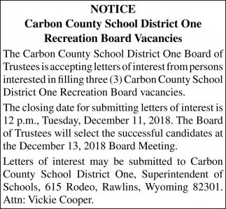 Recreation Board Vacancies