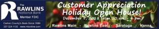 Customer Appreciation Holiday Open House!