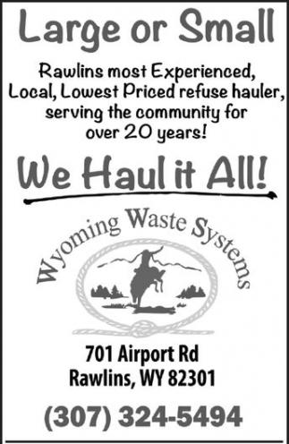 We haul it All!