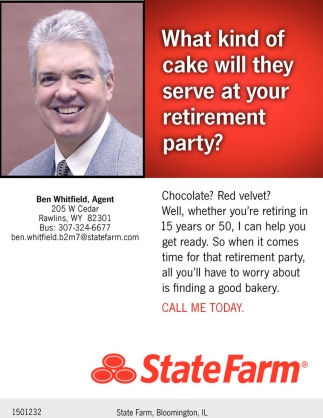 What kind of cake will they serve at your retirement party?
