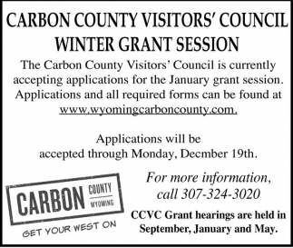 Carbon County Visitors' Council Winter Grant Season