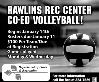 Rawlins Rec Center Co-Ed VolleyBall
