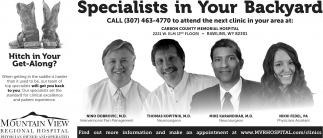 specialists in your backyard mountain view regional hospital