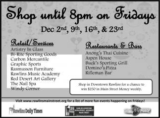 Shop until 8pm on Fridays