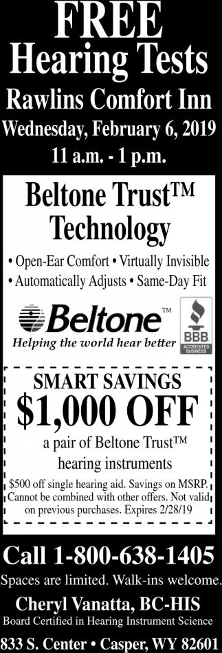 Free Hearing Tests