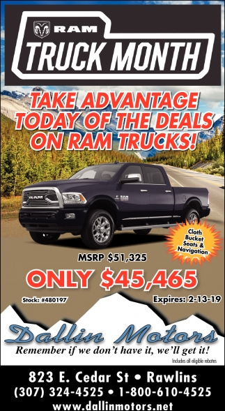 Take Advantage Today of the Deals on Ram Trucks!
