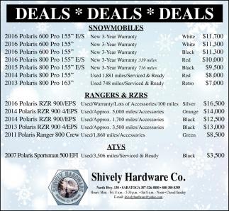Deals * Deals * Deals