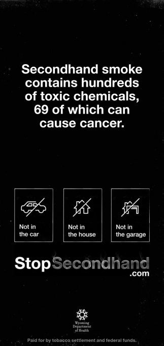 Smoke Contains Hundreds of Toxic Chemicals, 69 of Which Can Cause Cancer