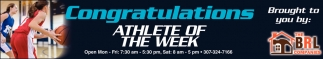 Congratulations to this Week's Athlete of the Week