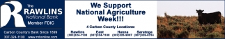 We Support National Agriculture Week!