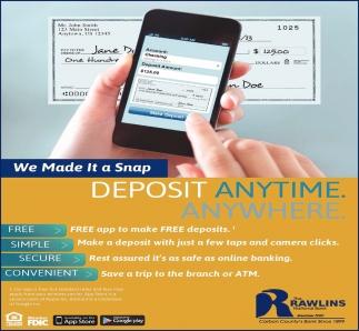 Deposit Anytime