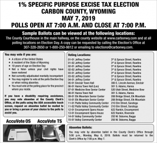 2019 1% Specific Purpose Excise Tax Election
