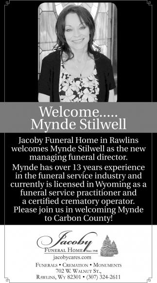 Welcome... Mynde Stilwell