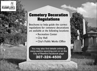 Cemetery Decoration Regulations