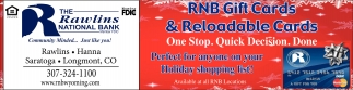 RNB Gift Cards & Reloadable Cards