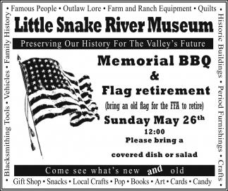 Memorial BBQ & Veteran's Tribute