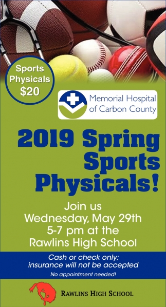 2019 Spring Sports Physicals!