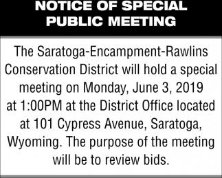 Notice of Special Public Meeting