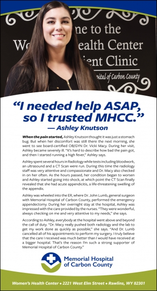 I Needed Help ASAP, So I Trusted MHCC