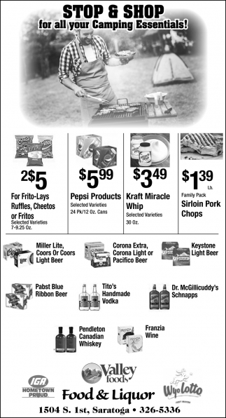 Stop & Shop for All Your Camping Essentials