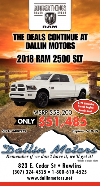 The Deals Continue at Dallin Motors