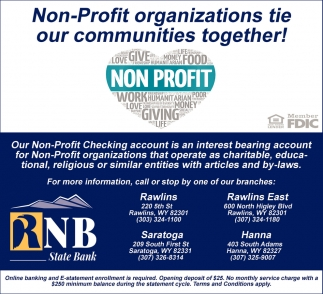 Non-Profit Organizations Tie Our Communities Together!