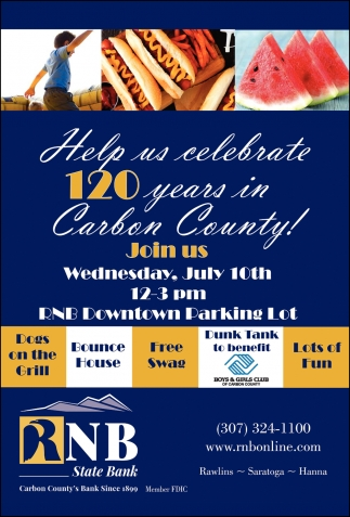 Help Us Celebrate 120 Years in Carbon County