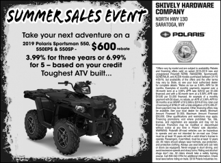 Saummer Sales Event