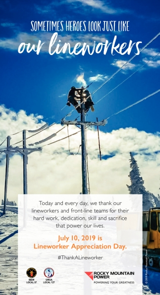 Sometimes Heroes Look Just Like our Lineworkers