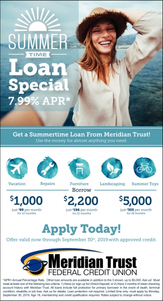 Summer Time Loan Special