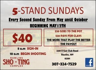 5-Stand Sundays