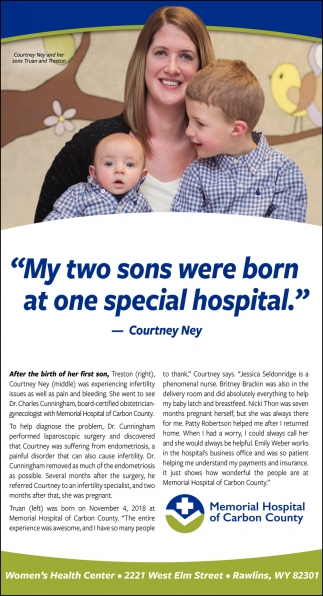 My Two Sons were Born at One Special Hospital