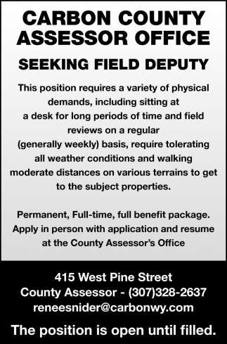 Seeking Field Deputy