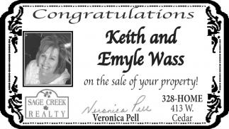 Congraatulation Keit and Emyle Wass