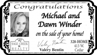 Congratulations Michael and Dawn Winder