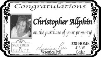 Congratulations Christopher Allphin