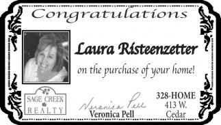 Congratulations Laura Risteenzetter