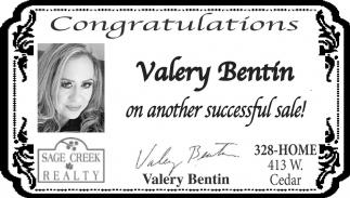 Congratulations Valery Bentin
