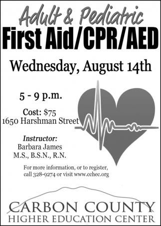 Adult & Pediatric First Aid
