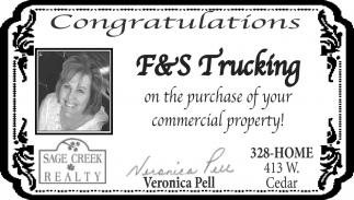 Congratulations F&S Trucking