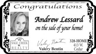 Congratulations Andrew Lessard