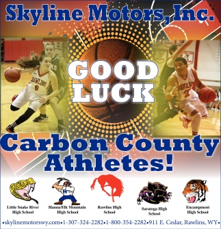 Good Luck Carbon County Athletes